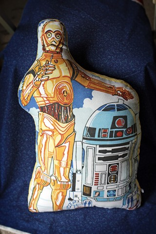 C-3PO & R2D2 giant pillow