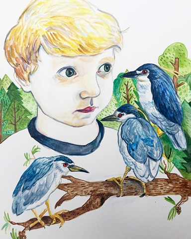 Luke & the Night Heron King