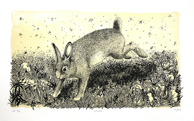 lithography hare