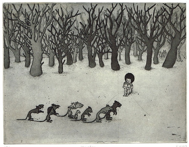 Etching and aquatint winter