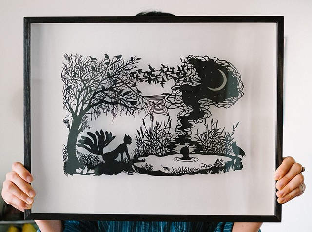 framed papercut