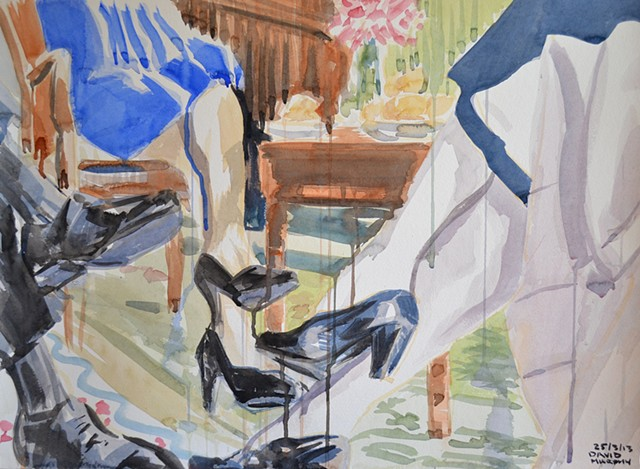 Shoes, High Heels, Watercolour, Sketch,  David Murphy, Cypher, The Panic Artist