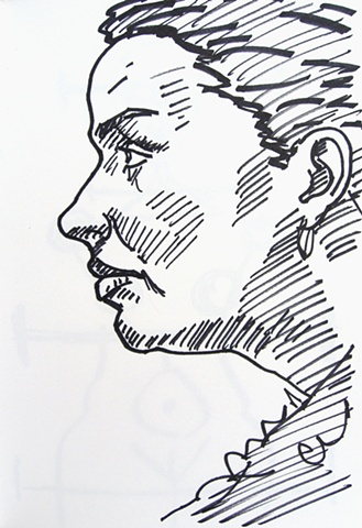 Woman in Profile, Notebook No. 41