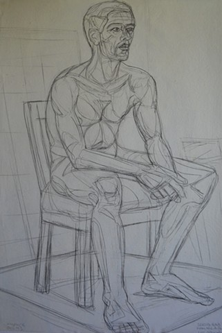 N.C.A.D. Seated Male Nude