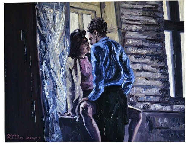 Lovers by a Window, Oil on Panel, David Murphy, Cypher, The Panic Artist