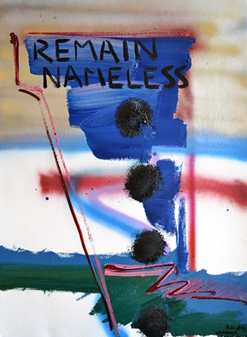 Remain Nameless, david murphy, cypher, abstract, oil, spray-paint