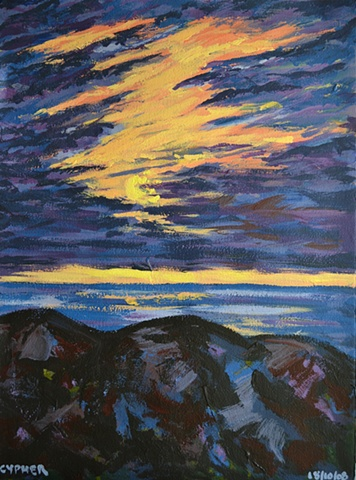 Sunset Over Sea No. 3, David Brendan Murphy, affordable art,