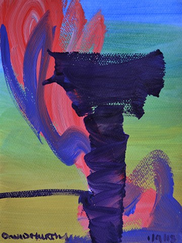 The Tower, abstract, acrylic, painting, irishart, dublinart, contemporary, new, davidmurphy