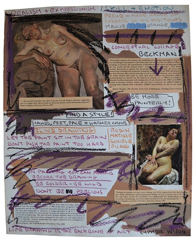 Realism and Expressionism, outsider, art history, text, david murphy, collage, ireland
