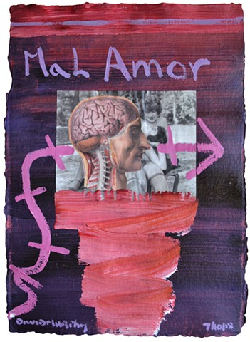 Mal Amour, collage, painting, porn, erotica, neo-expressionism, david murphy