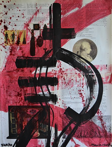 de Sade, text, painting, david murphy, dublin, ireland, A Short Introduction to Dissent No. 1