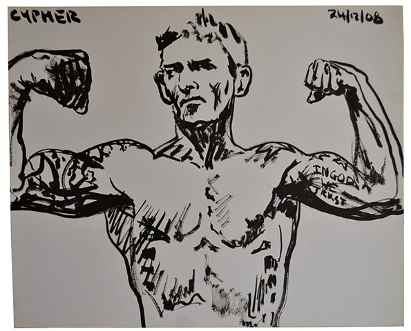 Weigh In No. 1, david b. murphy, fighter, mma, ufc, ink drawing,