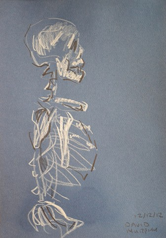 Skeleton in Profile No. 1, Neo-Expressionism, New Image, Expressionism, Realism, Art Brut, Raw Art, Outsider Art