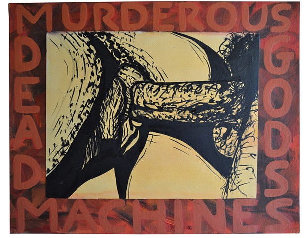 Murderous Machines, pornography, Neo-Expressionism, Outsider Art, Cypher, David Murphy
