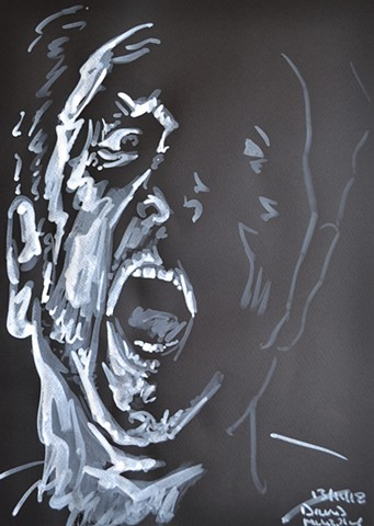 Wraith Self-Portrait No. 4, david murphy, irish, ireland, dublin, artist, painter