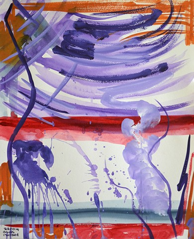 Tempest No. 1, 2014, watercolour, abstract, david murphy