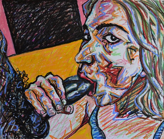 2003, Blow-Job, oral, porn, oil pastel, david murphy, art, dublin, ireland