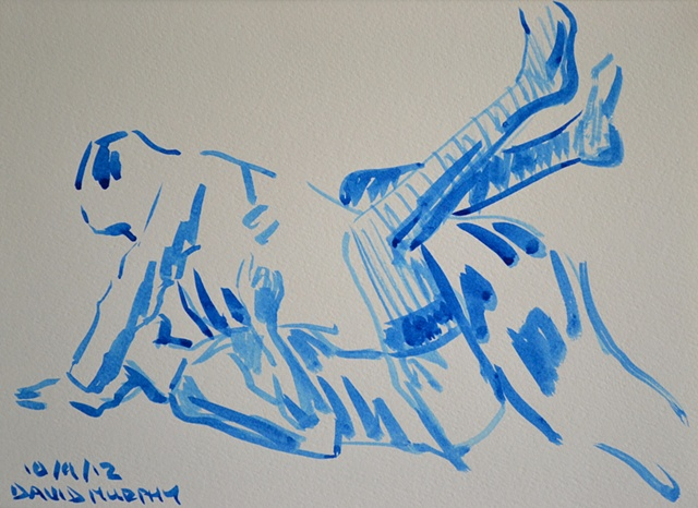 Lovers Sketch, David Murphy, Irish, Ireland, Artist, Painter, Draughtsman,