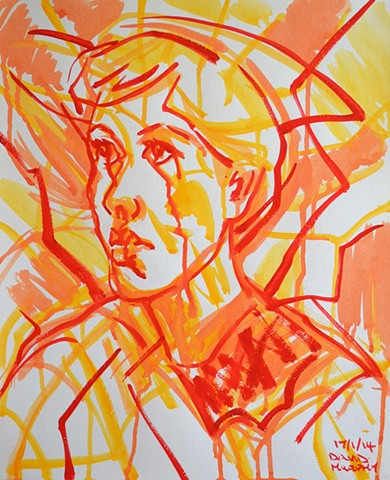 Joan of Arc, 2014, watercolour, david murphy