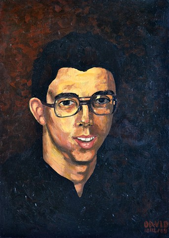 David Murphy, artist, painter, Ireland, Dublin, Irish, ROI, Eire, self-portrait,