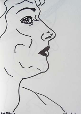 Woman in Profile, Notebook No. 47