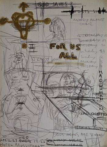 Amsterdam Sketchbook - For Us All, prostitution, sex, diary, David Murphy, Neo-Expressionism