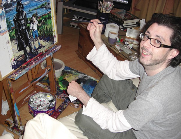 David Murphy, writer, painter, Irish, Ireland, Dublin, Eire, ROI,