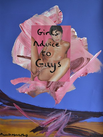 Girl's Advice to Guys, collage, porn, erotic, xxx, nsfw, neo-expressionist, outsider, david murphy, contemporary, new