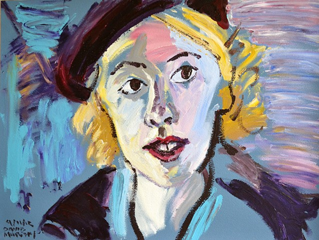 Woman with Beret No. 1, Neo-Expressionism, New Image, Expressionism, Realism, Art Brut, Raw Art, Outsider Art