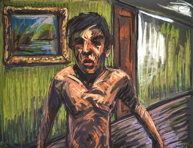 Distressed Boy No. 1, david murphy, Irish painter, Irish artist, Dublin, Ireland
