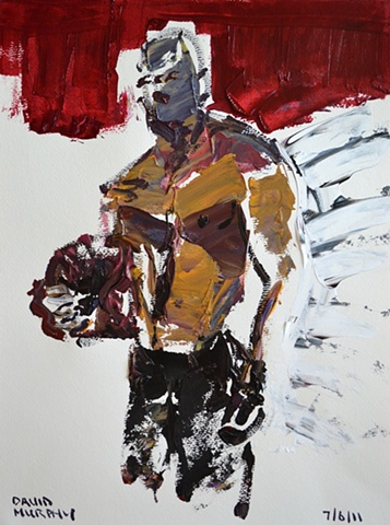 fighter, cypher, the panic artist, david brendan murphy, irish, ireland, dublin, painter