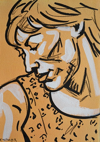 Thinking Woman, reasonable priced art, value art, David Murphy, Cypher, The Panic Artist