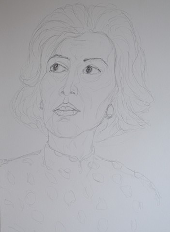 Mature Woman No. 5, portrait, woman, pencil, drawing, david murphy, cypher, the panic artist