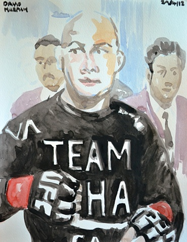 BJ Penn No. 1, 2012, watercolour, UFC, MMA,