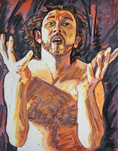 Middle Aged Nude Self-Portrait No. 8, david murphy, cypher, the panic artist