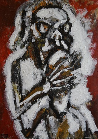 cutting edge, raw, outsider, expressionist, neo-expressionism, contemporary art, irish,