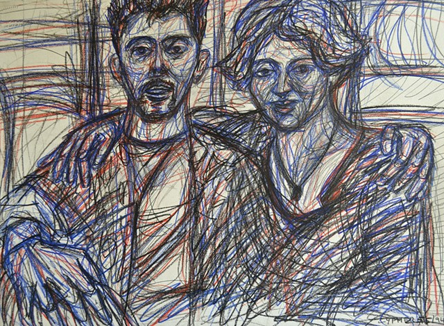 Self-Portrait With Sinead, 1994, david brendan murphy, cypher, the panic artist