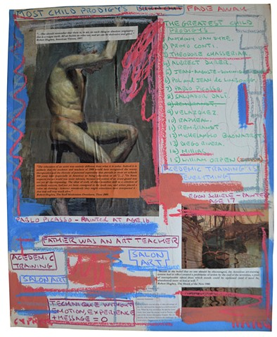 Most Child Prodigies Burn Out, text, art history, collage, david murphy, irish, ireland, dublin