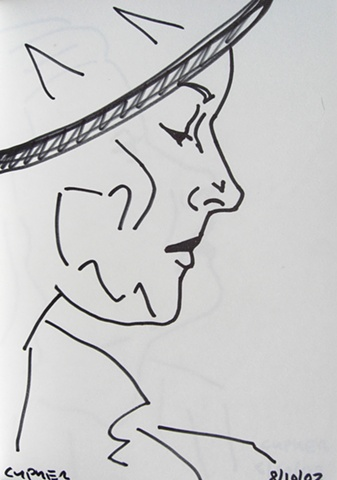 Woman's Head In Profile, Notebook No. 47