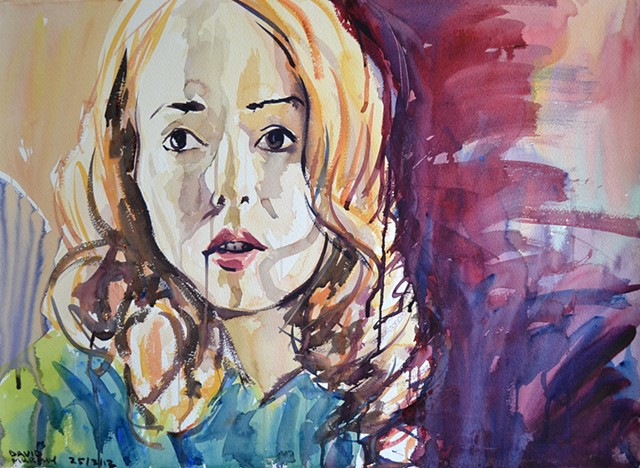 Redhead, Watercolour, Sketch,  David Murphy, Cypher, The Panic Artist