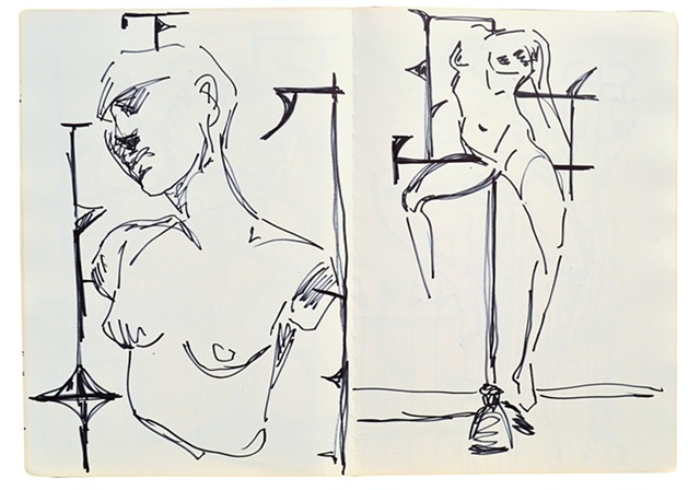 Figurative Sketches No. 3 Notebook No. 60