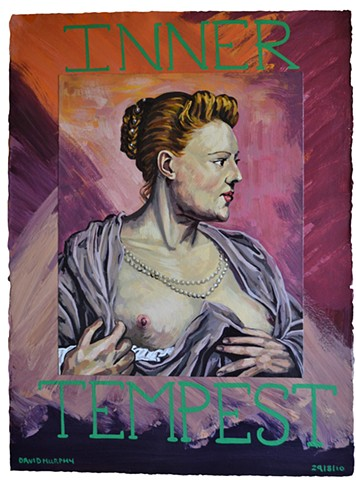 inner tempset, painting, text, david murphy, irish, irealnd, dublin, Neo-Expressionism, Post-Modern