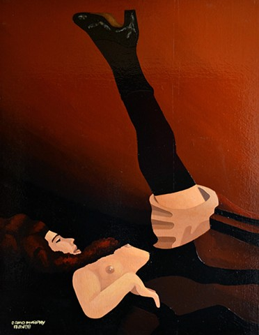 Girl With Leg Raised, 1988, david brendan murphy, cypher, the panic artist