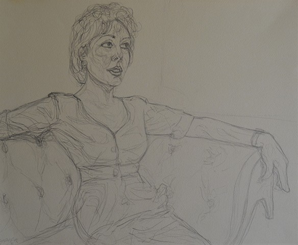 1993, Seated Woman, mature, david murphy, ireland, dublin