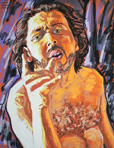 Middle Aged Nude Self-Portrait No. 9, david murphy, cypher, the panic artist