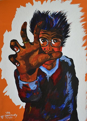 Self-Portrait With Hand Outstreched, 1987, david brendan murphy, cypher, the panic artist