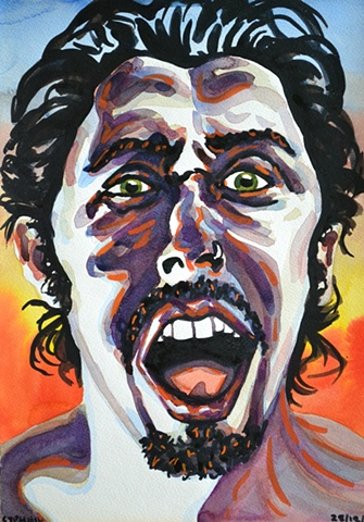 Screaming Self-Portrait, 2002, david brendan murphy, cypher, the panic artist