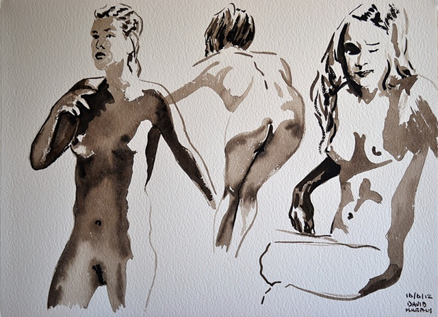 Figure Studies No. 12, david murphy, Irish painter, Irish artist, Dublin, Ireland