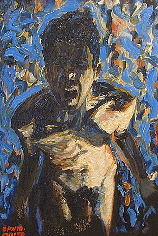 self-portrait screaming in blue, david murphy, cypher, ireland, irish, dublin