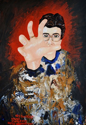Self-Portrait With Hand Outstreatched